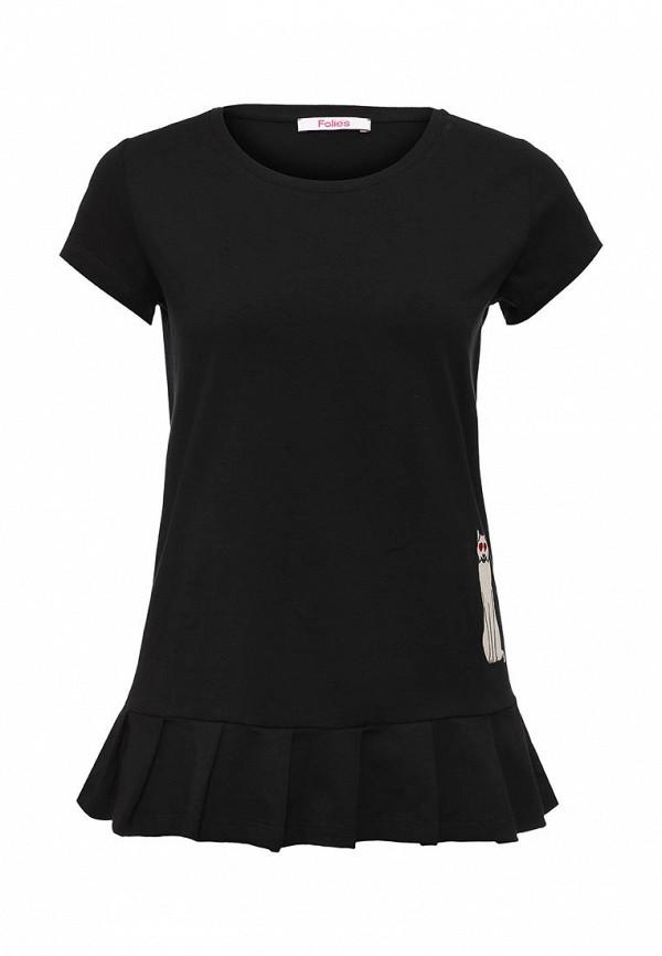 Купить женскую футболку Blugirl Folies черного цвета