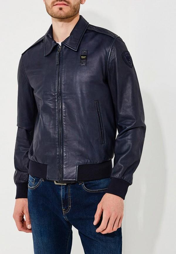 Фото Куртка кожаная Blauer. Купить с доставкой