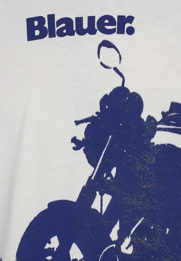 Футболка с надписями Blauer 15sbluh02394: изображение 3