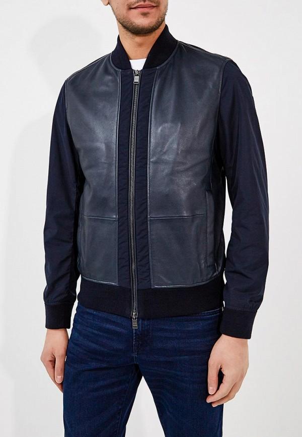 Купить Куртка кожаная Boss Hugo Boss, BO010EMAHVX2, синий, Весна-лето 2018