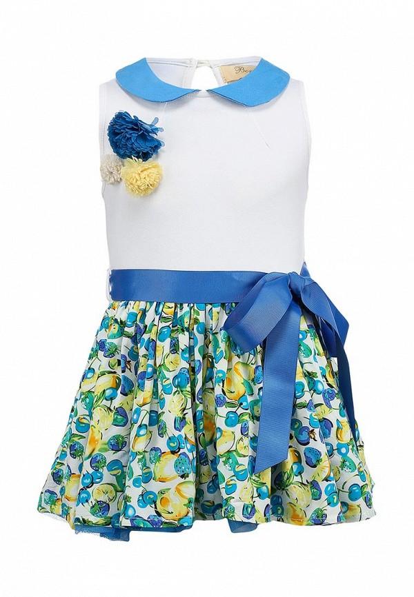 Нарядное платье Born 13-2005-AFбелый/голубой: изображение 1