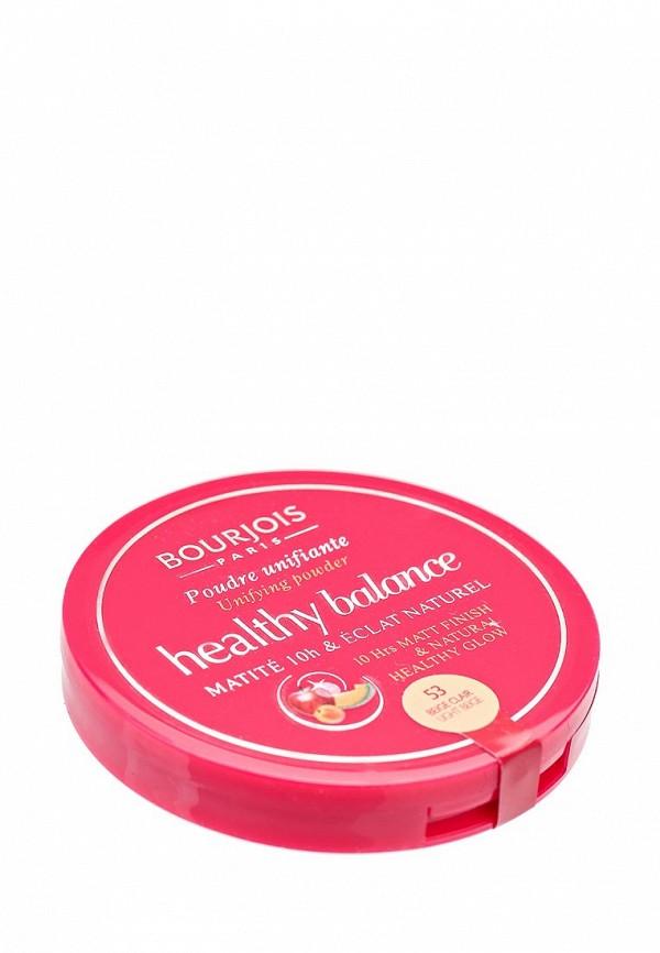 Здесь можно купить Выравнивающая Компактная Healthy Balance 53 тон beige clair  Пудра Bourjois Пудра
