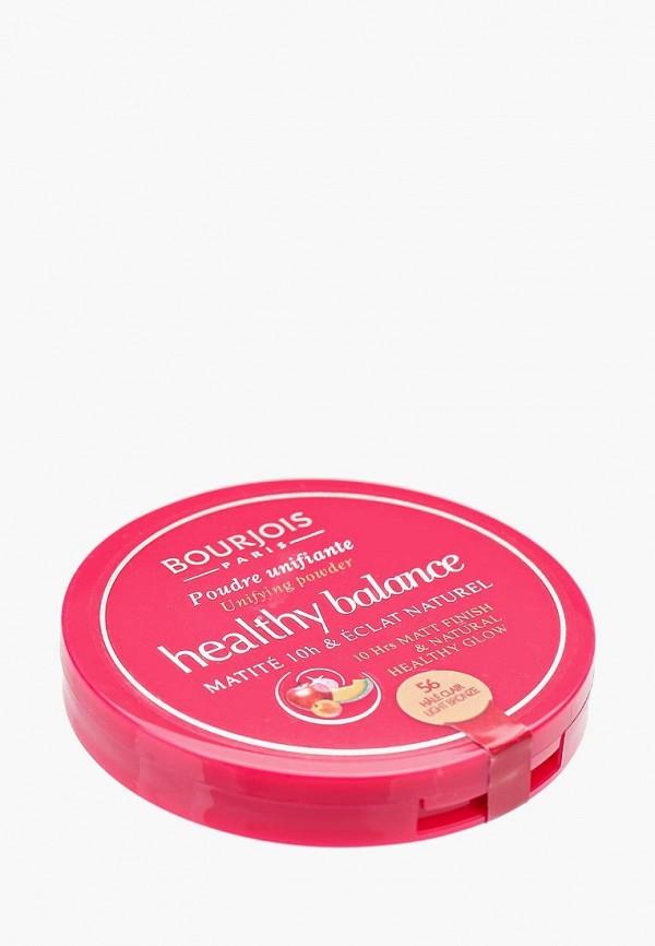 Купить Пудра Bourjois, Выравнивающая Компактная Healthy Balance 56 тон hale clair, BO031LWFFM56, Весна-лето 2018