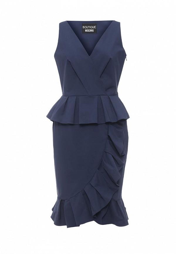 Купить женское платье Boutique Moschino синего цвета