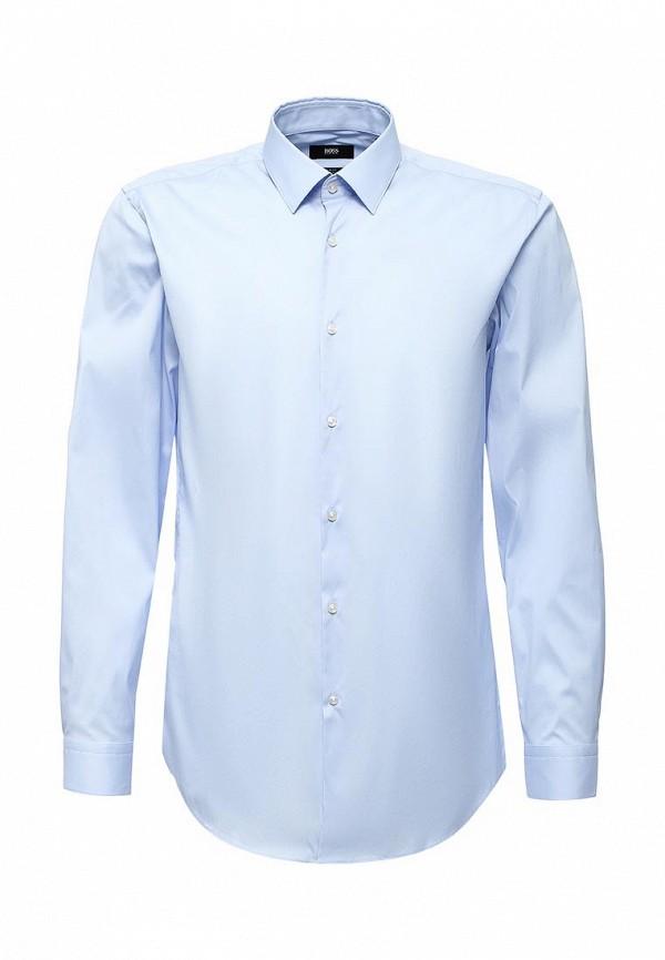 Рубашка Boss. Цвет: голубой