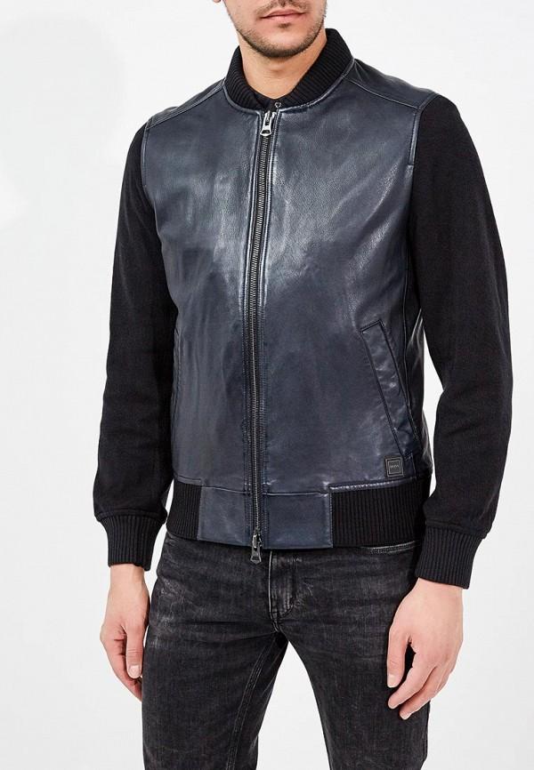 Купить Куртка кожаная Boss Hugo Boss, BO456EMAHTE4, синий, Весна-лето 2018