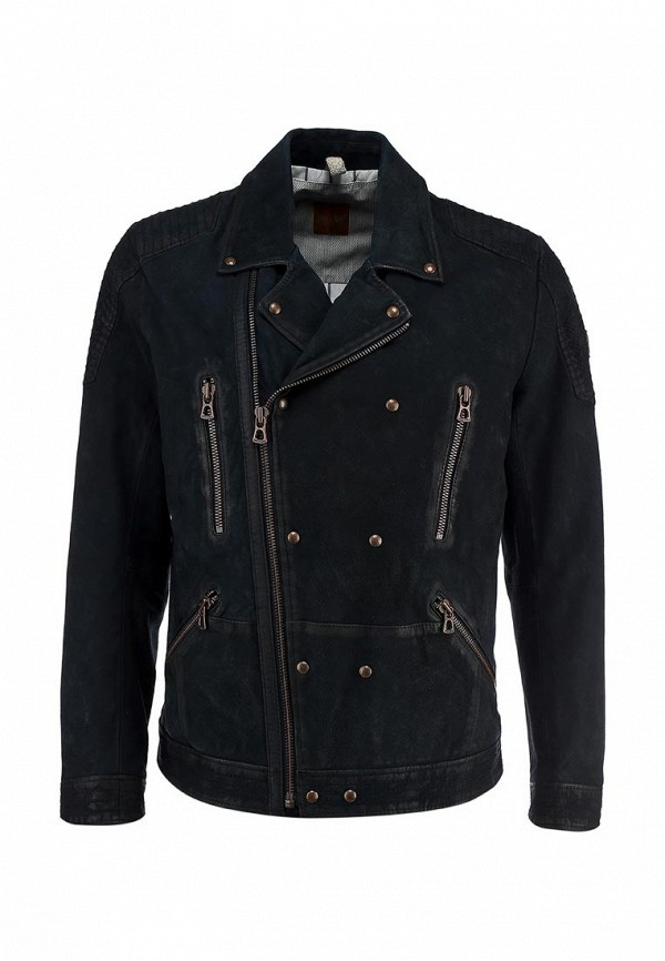 Кожаная куртка Boss Orange 50277963: изображение 1