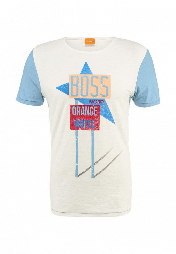 Футболка с надписями Boss Orange 50283676: изображение 1