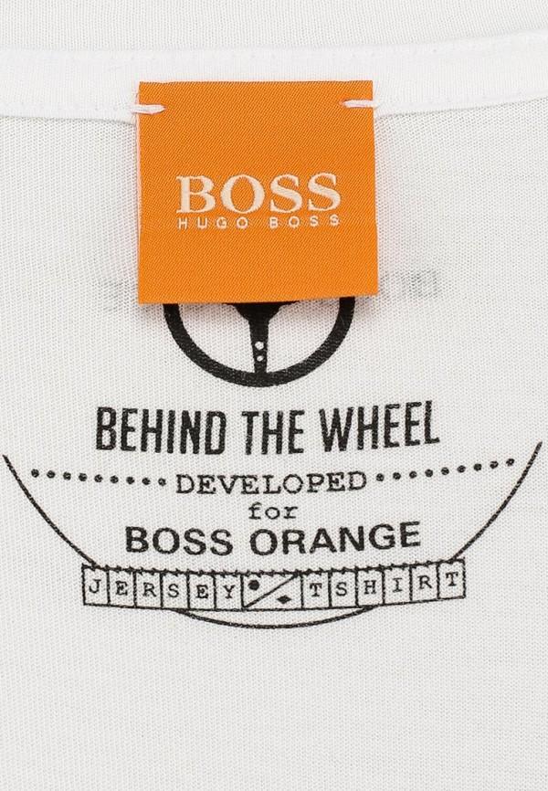 Футболка с надписями Boss Orange 50283653: изображение 3