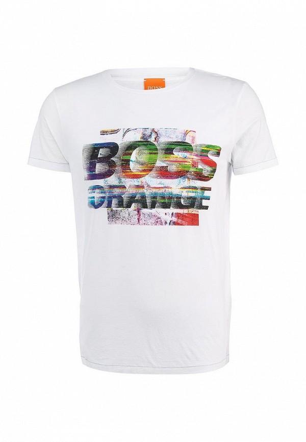 Футболка с надписями Boss Orange 50283656: изображение 2