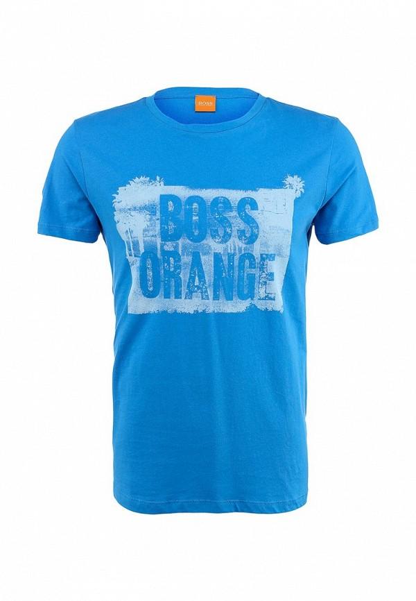 Футболка с надписями Boss Orange 50283637: изображение 2