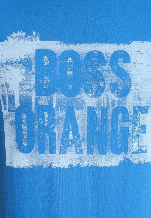 Футболка с надписями Boss Orange 50283637: изображение 7