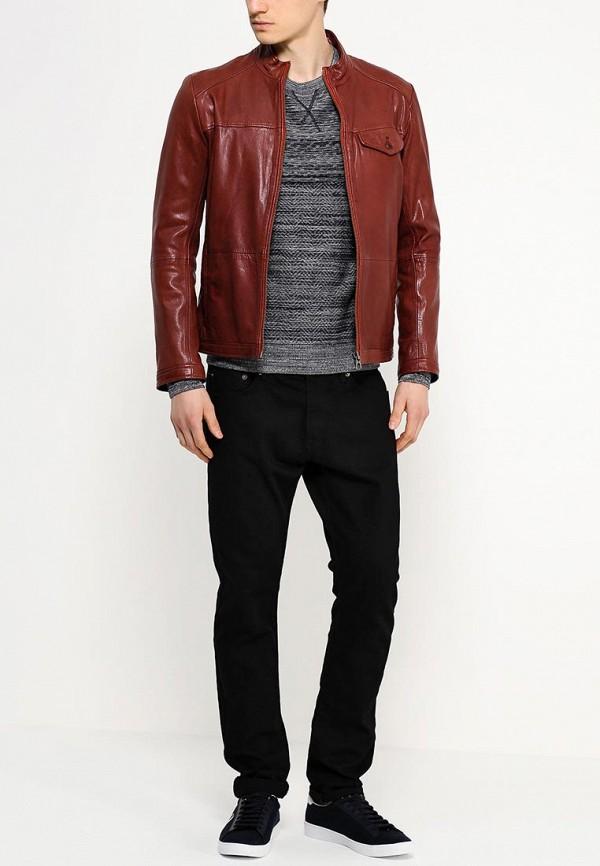 Кожаная куртка Boss Orange 50277954: изображение 3