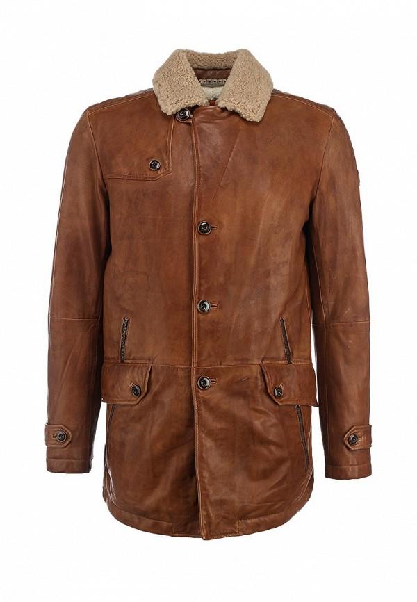 Кожаная куртка Boss Orange 50297057: изображение 1