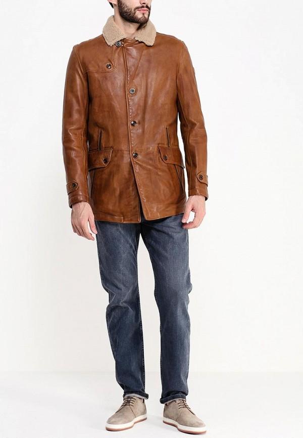 Кожаная куртка Boss Orange 50297057: изображение 4