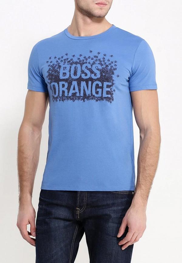 Футболка с надписями Boss Orange 50303433: изображение 3