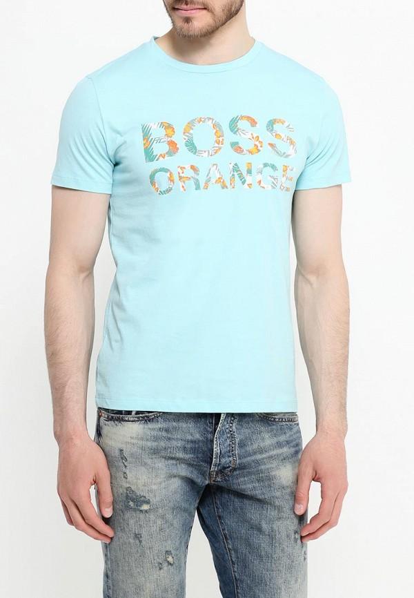 Футболка с надписями Boss Orange 50309710: изображение 7