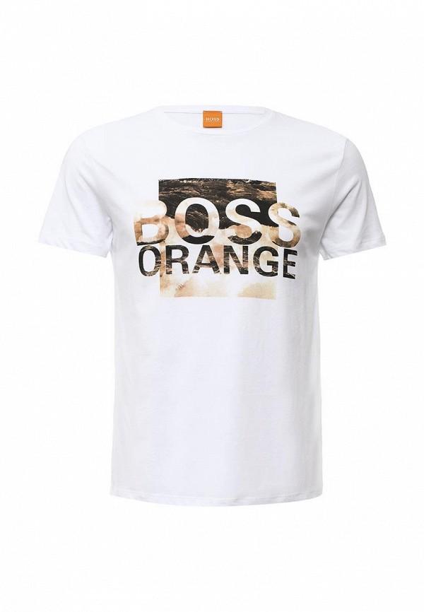 Футболка с надписями Boss Orange 50315483