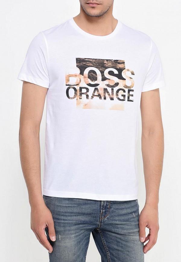 Футболка с надписями Boss Orange 50315483: изображение 3