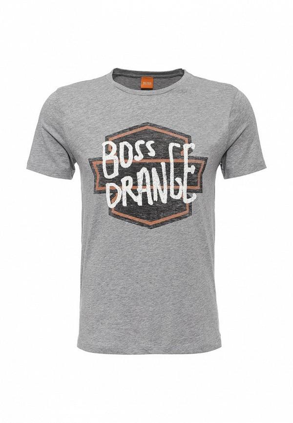 Футболка с надписями Boss Orange 50321749