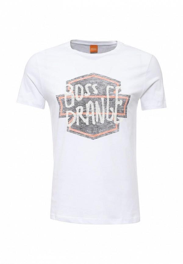 Футболка с надписями Boss Orange 50321749: изображение 1