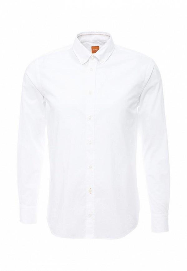 Фото - мужскую рубашку Boss Orange белого цвета