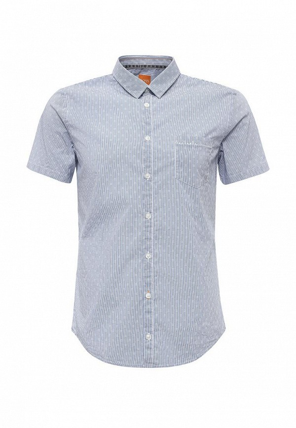 Купить мужскую рубашку Boss Orange цвет голубой, синий