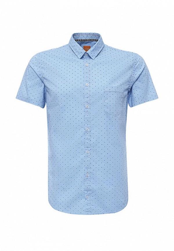 Фото - мужскую рубашку Boss Orange голубого цвета