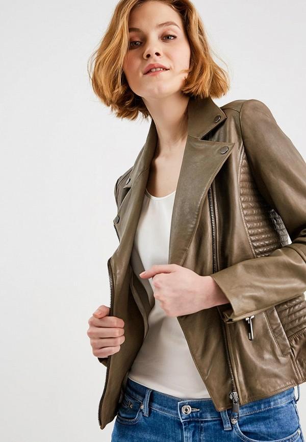 Купить Куртка кожаная Boss Hugo Boss, BO456EWAHRY7, хаки, Весна-лето 2018