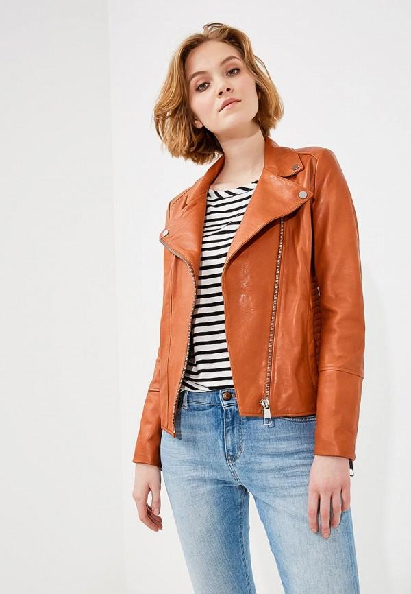 Купить Куртка кожаная Boss Hugo Boss, BO456EWAHRY8, оранжевый, Весна-лето 2018