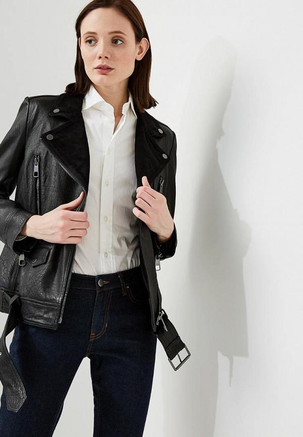 Купить Куртка кожаная Boss Hugo Boss, BO456EWAHRZ4, черный, Весна-лето 2018