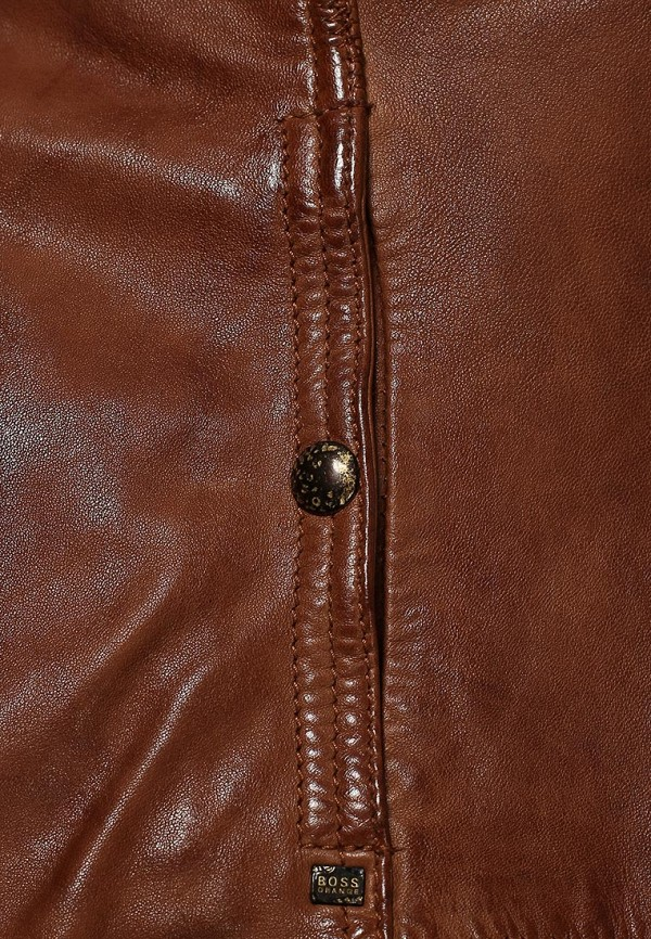 Кожаная куртка Boss Orange 50277380: изображение 5
