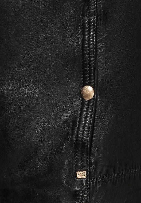 Кожаная куртка Boss Orange 50277380: изображение 6