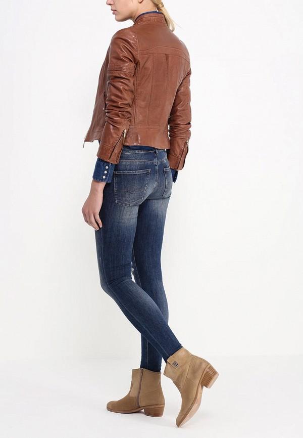 Кожаная куртка Boss Orange 50291983: изображение 4