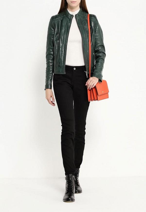Кожаная куртка Boss Orange 50323518: изображение 2
