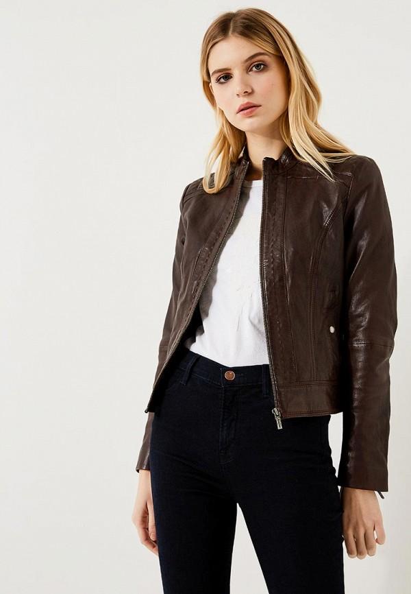 Купить Куртка кожаная Boss Hugo Boss, BO456EWYUU78, коричневый, Весна-лето 2018