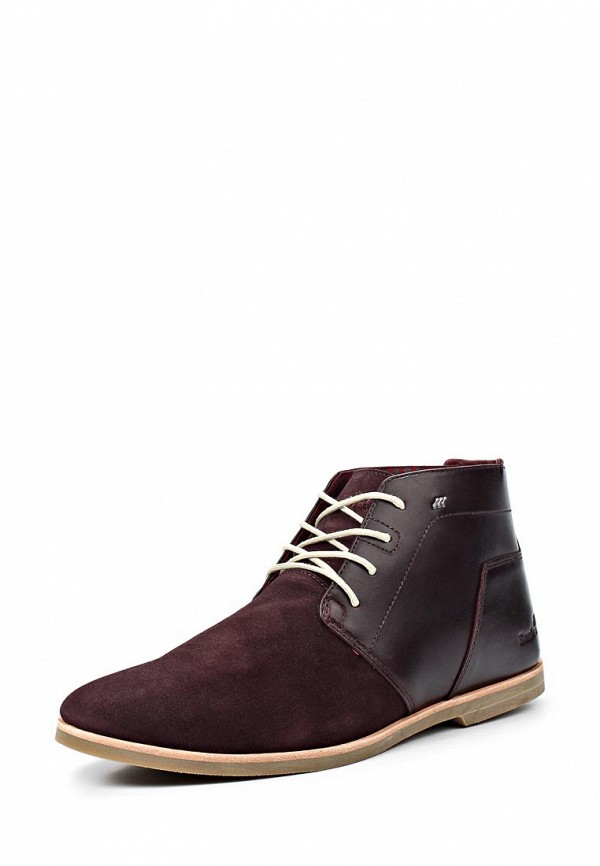 Ботинки Boxfresh BO543AMKW907. Цвет: бордовый