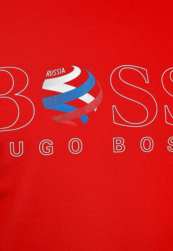 Футболка с надписями Boss Green 50260471: изображение 5