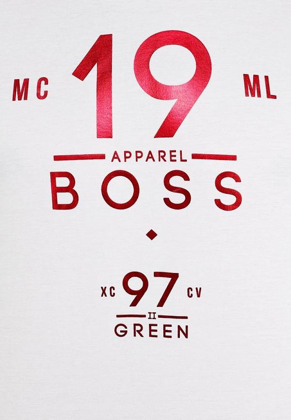 Футболка с надписями Boss Green 50259683: изображение 12