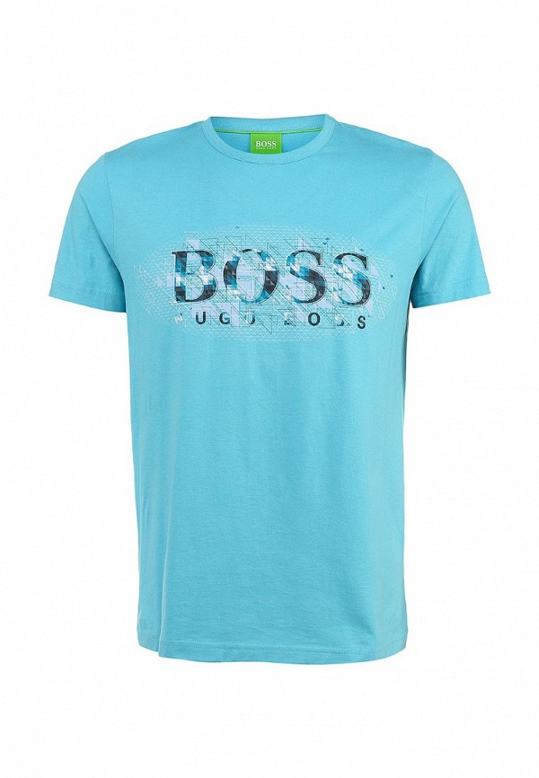 Футболка с надписями Boss Green 50283230: изображение 2