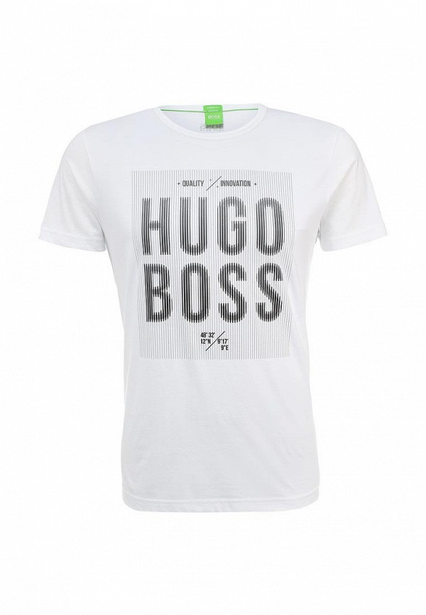 Футболка с надписями Boss Green 50302479: изображение 1