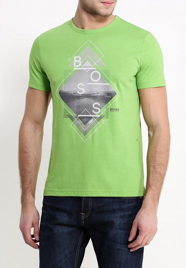 Футболка с надписями Boss Green 50302491: изображение 3