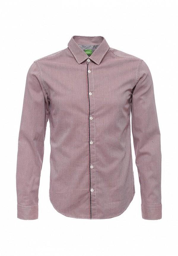Купить мужскую рубашку Boss Green красного цвета