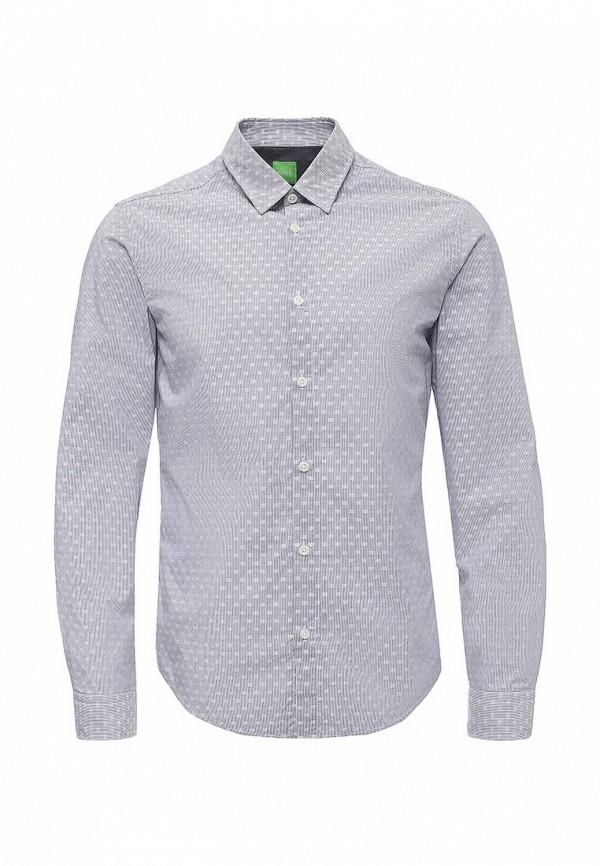 Фото - мужскую рубашку Boss Green голубого цвета