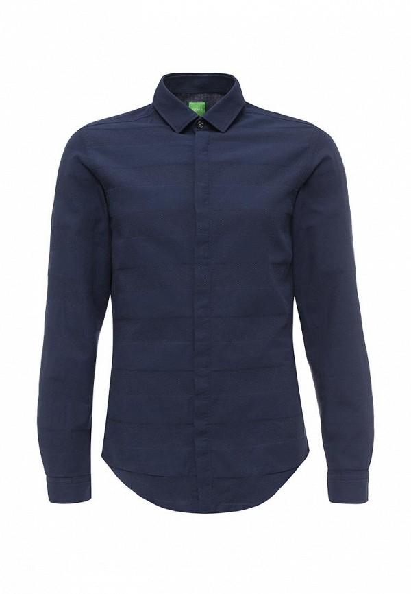 Фото - мужскую рубашку Boss Green синего цвета