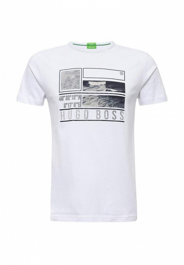 Купить мужскую футболку Boss Green белого цвета