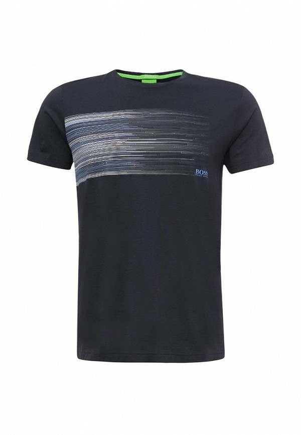 Купить мужскую футболку Boss Green синего цвета