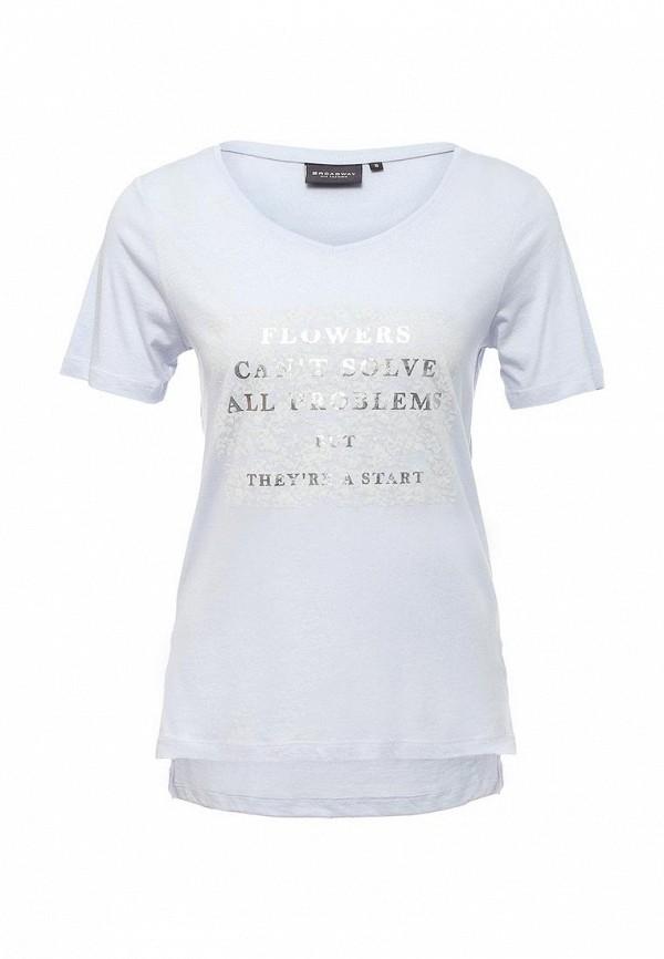 Купить женскую футболку Broadway голубого цвета