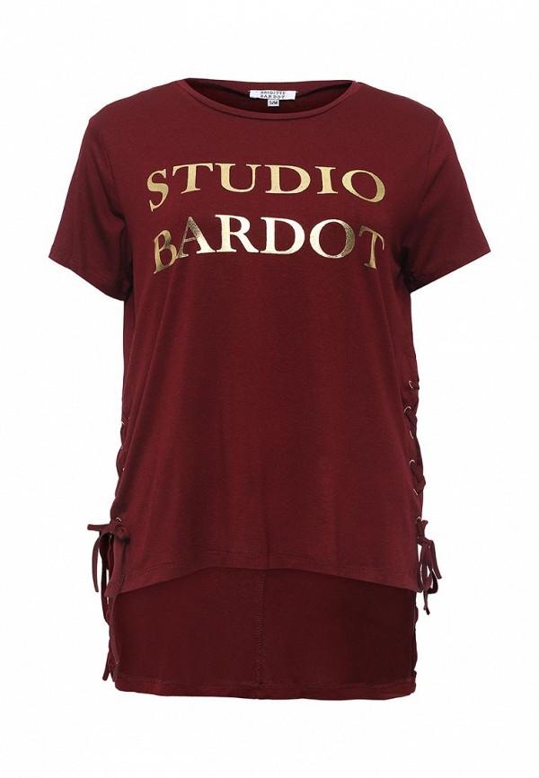 Купить женскую футболку Brigitte Bardot бордового цвета