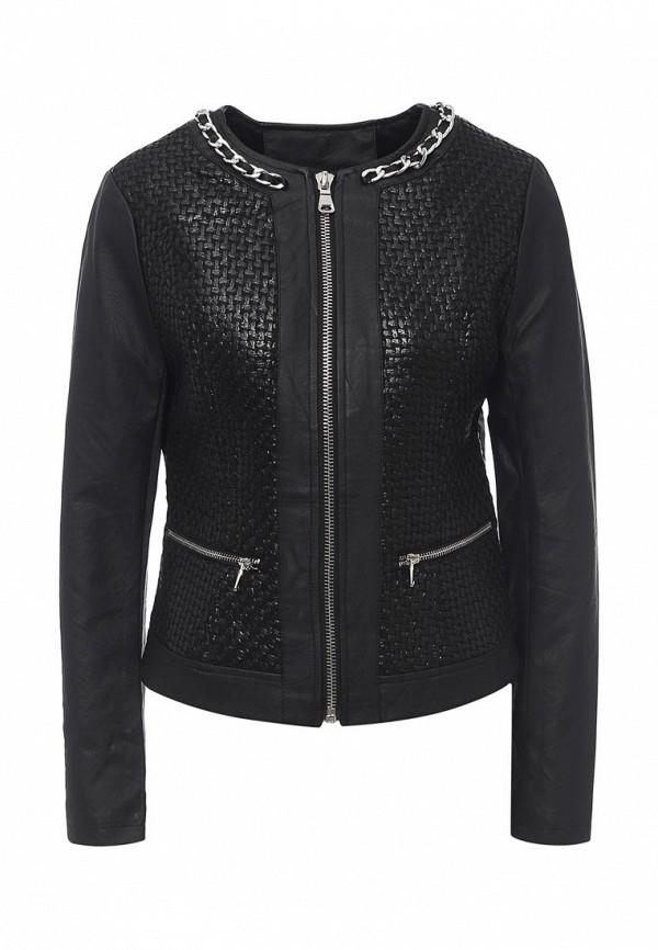 Фото - Куртку кожаная B.Style черного цвета